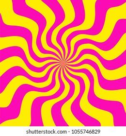 Swirling radial background. Vortex background. Helix background. Colorful vector background.Vector.