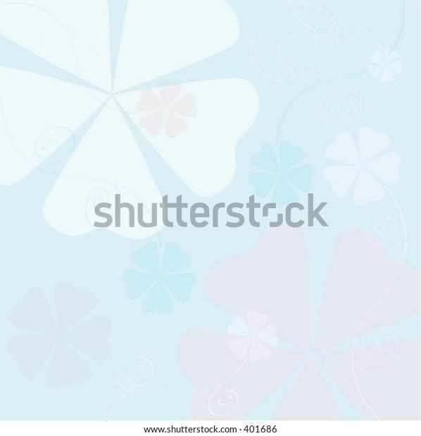 Swirls and flowers - vector