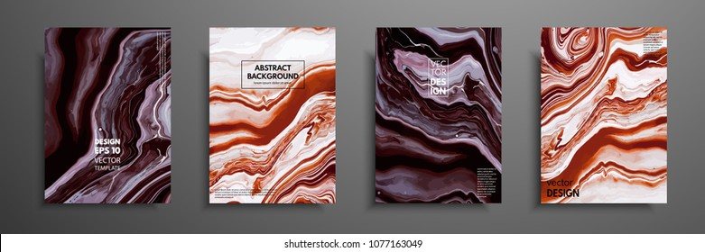 Swirls of marble or the ripples of agate. Liquid marble texture. Fluid art. Applicable for design covers, presentation, invitation, flyers, annual reports, posters and business cards. Modern artwork