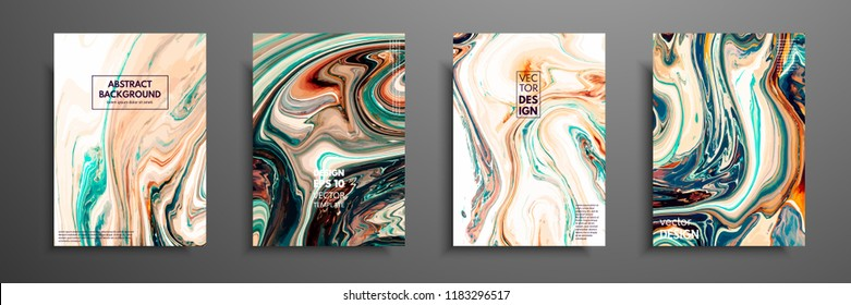 Swirls of marble or the ripples of agate. Liquid marble texture. Fluid art. Applicable for design covers, presentation, invitation, flyers, annual reports, posters and business cards. Modern artwork.