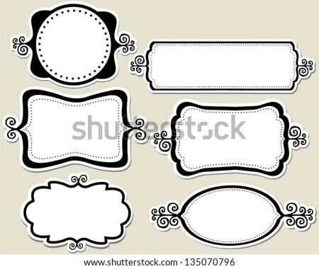 Swirly Funky Frames Stock Vector (Royalty Free) 135070796 - Shutterstock