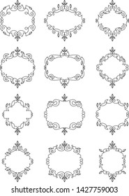 Swirly Leaf Ornate Frames set
