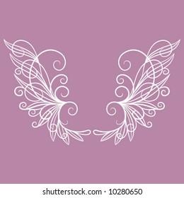 Swirly Wire Wings