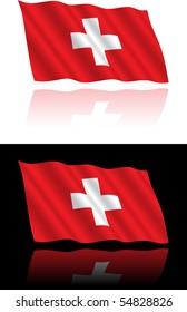 Swiss Flag Flowing