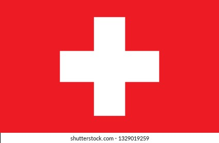 Swiss flag. Simple vector Switzerland flag