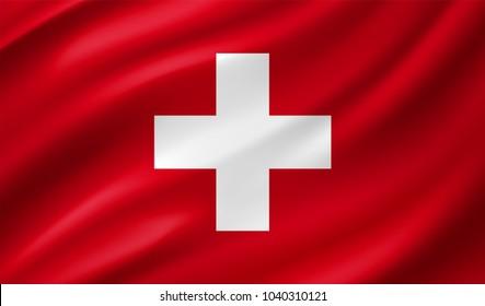 Swiss Flag in Vector Illustration