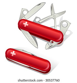 swiss knife tools icon