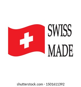 Swiss made quality certificate label