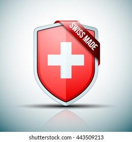 Swiss Made shield sign