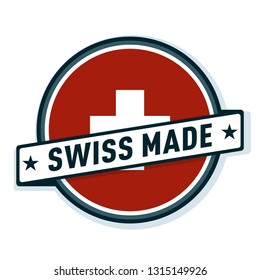 Swiss Made (Made in Switzerland) label illustration