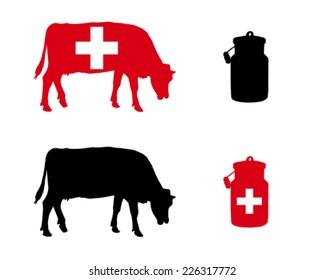Swiss milk cow