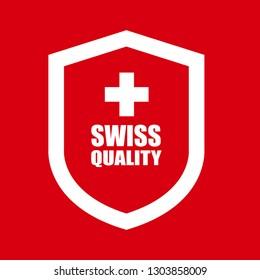 swiss quality shield.label,sticker.