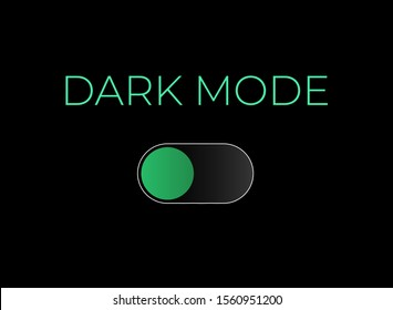 Switch to dark mode. Night mode. Toggle Element for Mobile App, Web Design. Light and dark mode. Vector