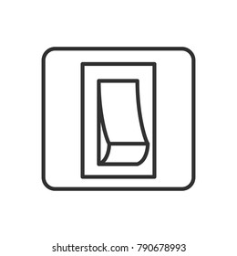 Switch. linear icon. Line with Editable stroke