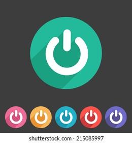 Switch power flat icon badge
