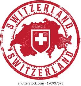 Switzerland European Country Rubber Stamp