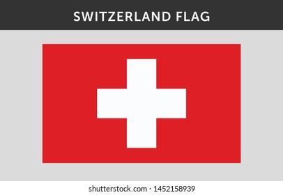 Switzerland flag illustration vector design