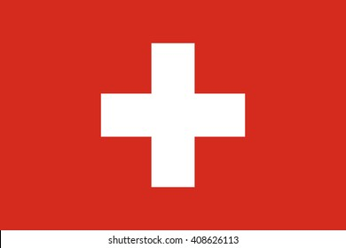 Switzerland flag, official colors. National Switzerland flag. Flat vector illustration. EPS10.