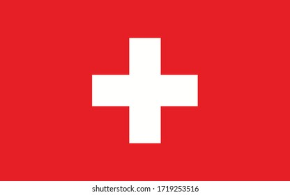 Switzerland flag vector graphic. Rectangle Swiss flag illustration. Switzerland country flag is a symbol of freedom, patriotism and independence.