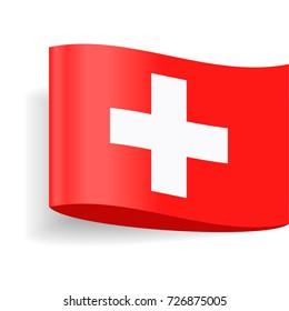Switzerland Flag Vector Icon - Illustration