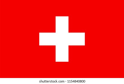 Switzerland flag vector icon, simple, flat design for web or mobile app