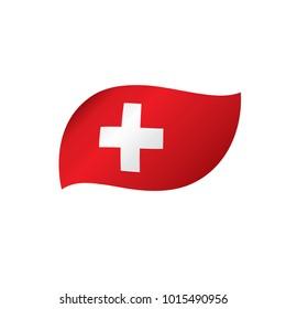 Switzerland flag, vector illustration