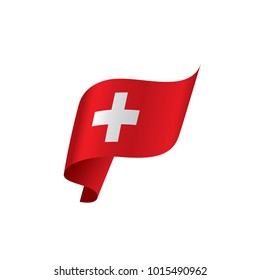 Switzerland flag, vector illustration