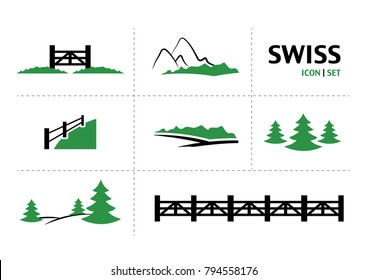 Switzerland icon set