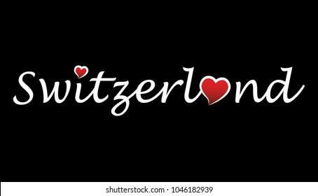 Switzerland Logo Type Writing