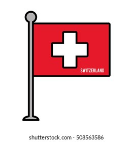 switzerland patriotic flag isolated icon vector illustration design