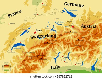 Map Of The Alps In France.Map Alps Stock Vectors Images Vector Art Shutterstock