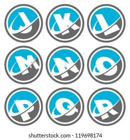 Swoosh Alphabet Logo Icons Set 2