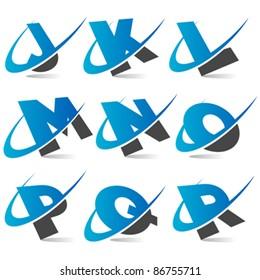 Swoosh Alphabet Logo Set 2