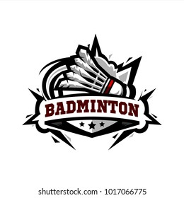 Swoosh Badminton Logo