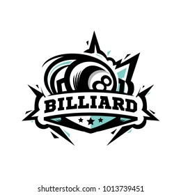 Swoosh Billiard Logo