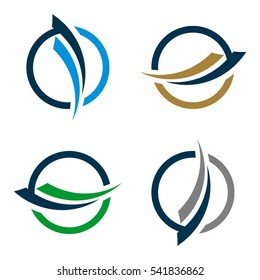 Swoosh and Circle for Finance Logo Template