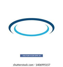 swoosh circle icon vector illustration