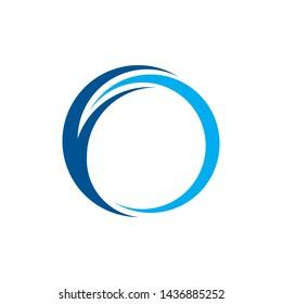 swoosh circle vector logo design
