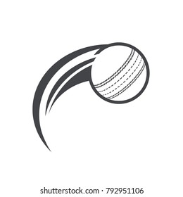 Swoosh Cricket ball Logo Icon