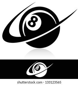 Swoosh Eight Ball Logo Icon