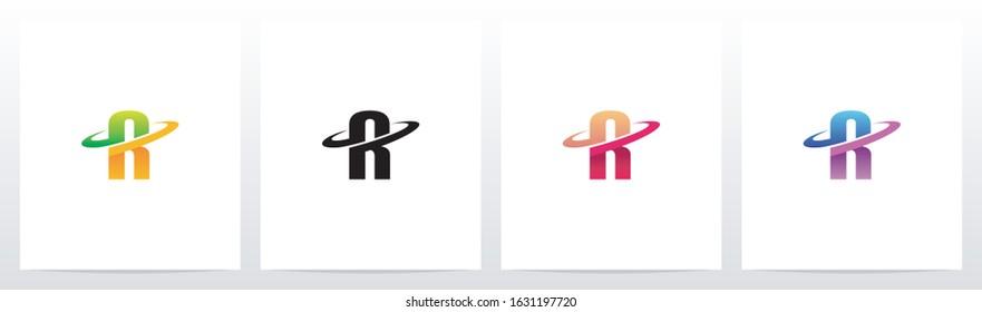 Swoosh Graphic On Letter Logo Design R