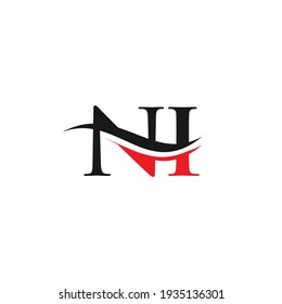 Swoosh Letter NI Logo Design for business and company identity. Water Wave NI Logo with modern trendy