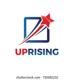 Swoosh Rising Star Logo Design
