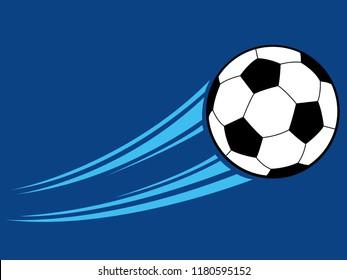 Swooshing football graphic vector