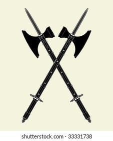 Sword Battle Axe Vector 01