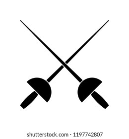 Sword fencing icon, logo on white background