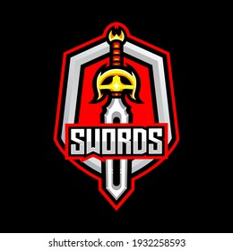 Sword Fire shield gaming knight power
