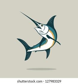Sword fish - vector illustration