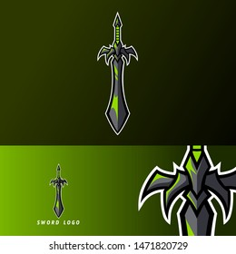 Sword lord king warior mascot sport gaming esport logo template for streamer squad team club