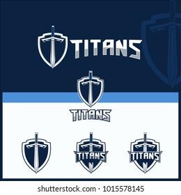 sword vector for titans theme logo template